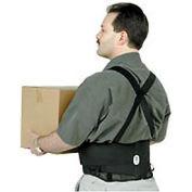 Ergodyne® ProFlex® 100 Economy Back Support W/Rubber Track Webbing, XL, Black