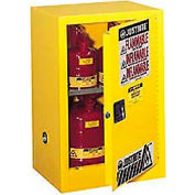 Justrite Flammable Liquid Cabinet, 15 Gallon, Manual Single Door Vertical Storage