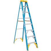 Werner 8' Fiberglass Step Ladder w/ Plastic Tool Tray 250 lb. Cap - 6008