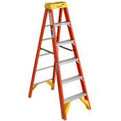 Werner 6' Fiberglass Step Ladder w/ Plastic Tool Tray 300 lb. Cap - 6206