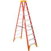 Werner 10' Fiberglass Step Ladder w/ Plastic Tool Tray 300 lb. Cap - 6210