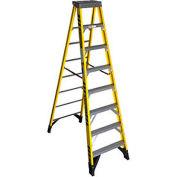 Werner 8' Fiberglass Step Ladder w/ Plastic Tool Tray 375 lb. Cap - 7308