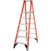 Werner 6' Fiberglass Platform Step Ladder 375 lb. Cap - P7406