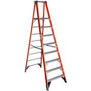 Werner 8' Fiberglass Platform Step Ladder 375 lb. Cap - P7408