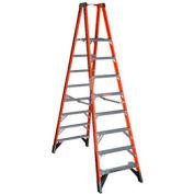 Werner 8' Dual Access Fiberglass Platform Ladder - PT7408