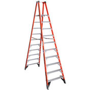 Werner 10' Dual Access Fiberglass Platform Ladder - PT7410