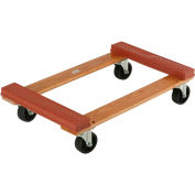 Hardwood Dolly with Rubber Bumpered Ends Deck 30 x 18 1200 Lb. Capacity
