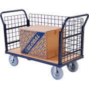 Euro Truck With 3 Wire Sides & Wood Deck 48 X 24 1200 Lb. Capacity