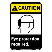 "Graphic Signs - Caution Eye Protection Required - Vinyl 7""W X 10""H"