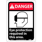 """Graphic Signs - Danger Eye Protection Required - Plastic 7""""W X 10""""H"""