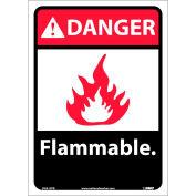 "Graphic Signs - Danger Flammable - Vinyl 10""W X 14""H"