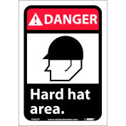 "Graphic Signs - Danger Hard Hat Area - Vinyl 7""W X 10""H"