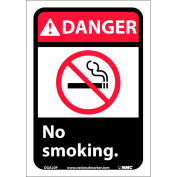 "Graphic Signs - Danger No Smoking - Vinyl 7""W X 10""H"
