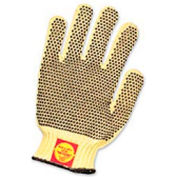 Perfect Fit Medium Weight One-Sided PVC Dots Kevlar® Gloves, Mens' Size, 1 Pair