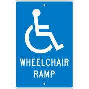 "Aluminum Sign - Wheelchair Ramp - .063"" Thick, TM86H"