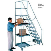 11 Step Steel Stock Picking Ladder - Perforated Tread