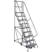 9 Step Steel Easy Turn Rolling Ladder - Standard Angle