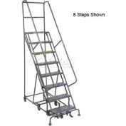 13 Step Steel Easy Turn Rolling Ladder - Standard Angle