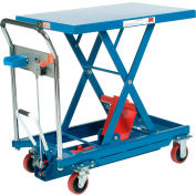Best Value Mobile Scissor Lift Table with Hook-on Bin 1100 Lb. Capacity - 35 x 23 Platform