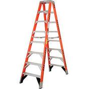 Werner 8' Dual Access Fiberglass Step Ladder 375 lb. Cap - T7408