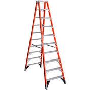 Werner 10' Dual Access Fiberglass Step Ladder 375 lb. Cap - T7410