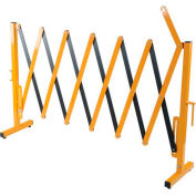 """Steel Portable Barricade Gate, Retracted/Extended Length 15"""" - 137"""""""
