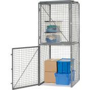 Bulk Storage Locker Double Tier 4' X 4' Starter With Roof