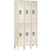 Infinity™ Locker Double Tier 12x12x36 6 Door Assembled Tan