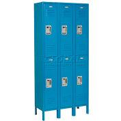 Infinity™ Locker Double Tier 12x15x36 6 Door Assembled Blue