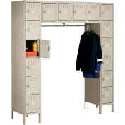 Tennsco Box Locker SRK-721878-1 214 - 16 Person w/Legs 12x18x12 Unassembled, Sand
