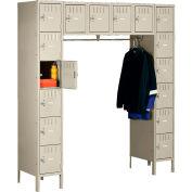 Tennsco Box Locker SRK-721878-1-SND - 16 Person w/Legs 12x18x12 Unassembled, Sand