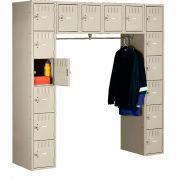 Tennsco Steel Locker SRS-721872-A-SND - 16 Person w/o Legs 12x18x12 Assembled Sand