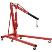 Folding Floor Crane with Telescopic Boom 4000 Lb. Capacity