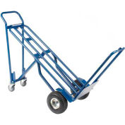 Steel 3-in-1 Convertible Hand Truck with Pneumatic Wheels 600 Lb. Capacity