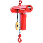Coffing® Electric Chain Hoist with Chain Container 500 Lb. Cap.