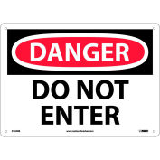 """Safety Signs - Danger Do Not Enter - Rigid Plastic 10""""H X 14""""W"""
