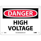 "Safety Signs - Danger High Voltage - Rigid Plastic 7""H X 10""W"