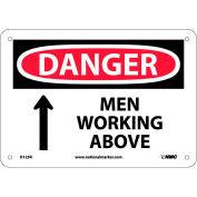 "Safety Signs - Danger Men Working Above - Rigid Plastic 7""H X 10""W"