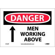 "Safety Signs - Danger Men Working Above - Vinyl 7""H X 10""W"