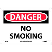 "Safety Signs - Danger No Smoking - Rigid Plastic 7""H X 10""W"