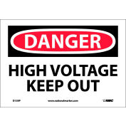 """Safety Signs - Danger High Voltage Keep Out - Vinyl 7""""H X 10""""W"""