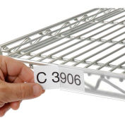 "Clear Label Holder for Wire Shelf 1-1/4""H x 24""W with Paper Insert (6 pcs/pkg) - Pkg Qty 6"