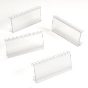 "Clear Label Holder for Wire Shelf 1-1/4""H x 3""W with Paper Insert (25 pcs/pkg) - Pkg Qty 25"