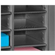 Letter Size 21 Compartment Steel Literature Sorter - Black