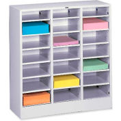 Letter Size 21 Compartment Steel Literature Sorter - Gray