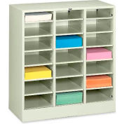 Letter Size 21 Compartment Steel Literature Sorter - Putty