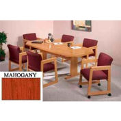 8-Sided 36x72 Table Mahogany Finish
