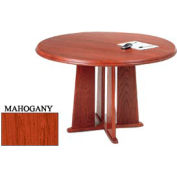 48 Inch Round Table Mahogany Finish