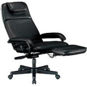 OFM Executive Ergonomic Reclining Office Chair with Footrest, Anti-Microbial Vinyl, High Back, Black