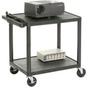 Plastic Audio Visual & Instrument Cart 24 X 18 X 26 Two Shelves